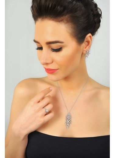 Tophills Diamond Co. 0,25 Ct Pırlanta Efekt  Altın Queen Yüzük Renkli